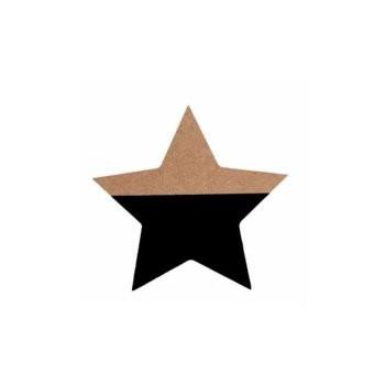 Estrella negro, de madera.