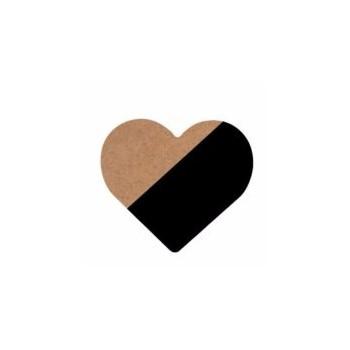 Corazón negro de madera.