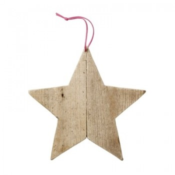 Ornament nature wood star