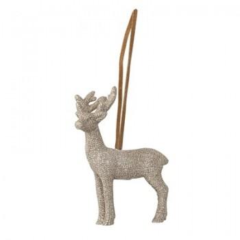 Ornament gold reindeer