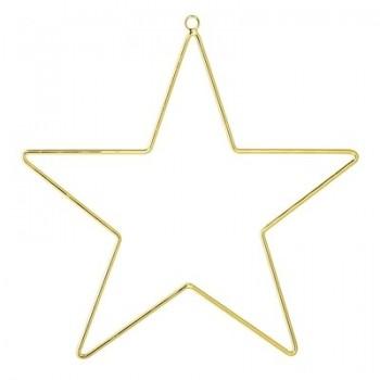Ornament gold metal star