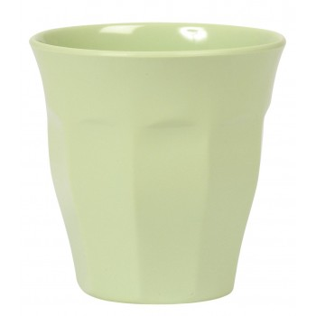 Green melamine cup.