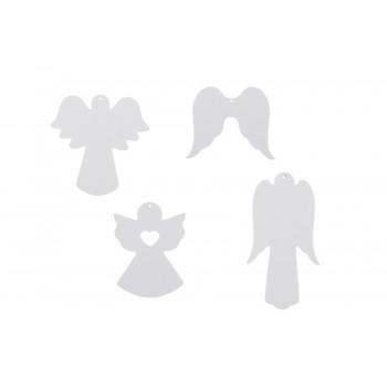 Xmas ornament angels. Set of 4
