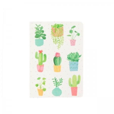 Libreta estampado cactus