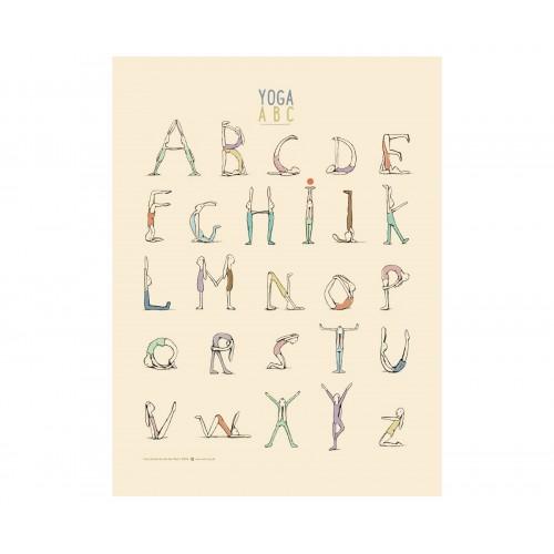 Póster, Yoga Alphabet