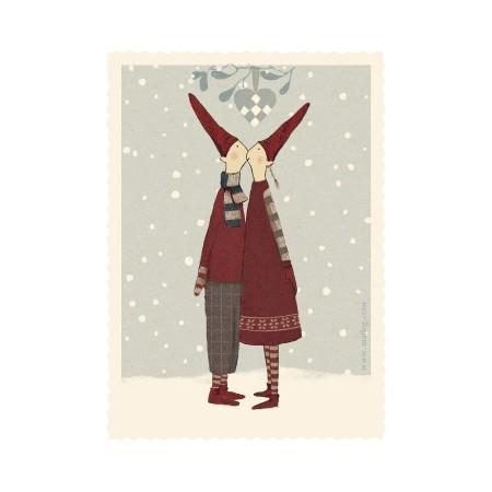 Tarjeta Navidad Pixy Kiss.