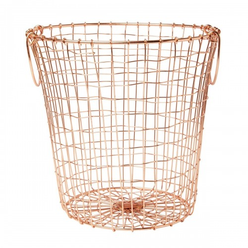 Copper Wire Mesh Round Basket