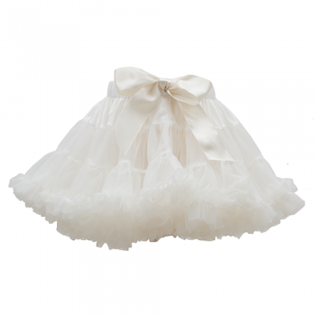 Falda tutú blanco nieve talla 2-4
