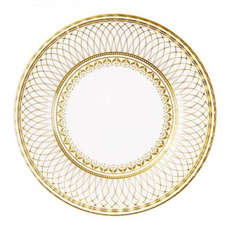 Plato de papel dorado (8u.)