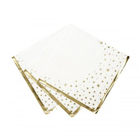 Servilletas de papel con estrellas doradas (16u.)