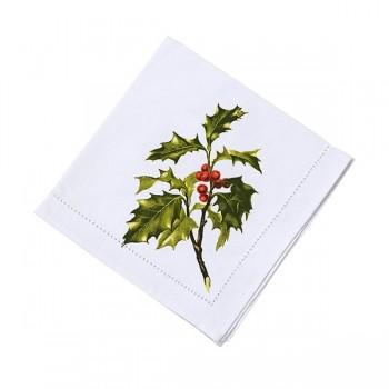 Servilleta navidad de tela, Botanical (4 Unid)