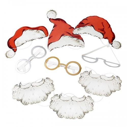 Disfraz de Santa para fotos, (8 piezas)