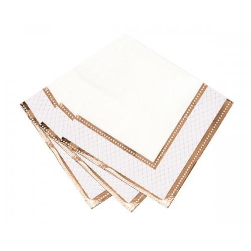 Servilletas de papel, rosa dorado