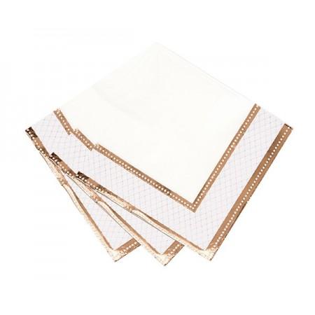 Servilletas de papel oro rosado (16u.)
