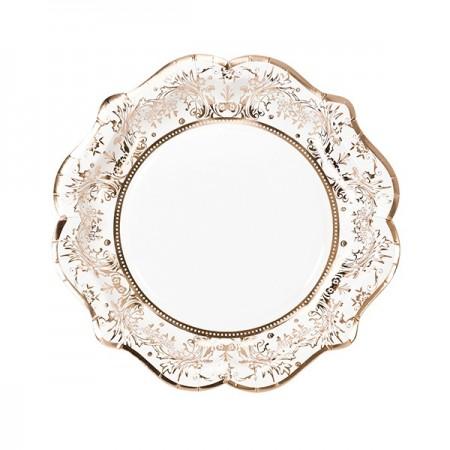 Party  rose gold foil plate, 2 designs, 12pk.
