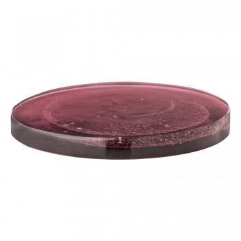 Bajoplato/Bandeja de cristal, púrpura
