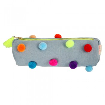Pom Pom Pencil Case