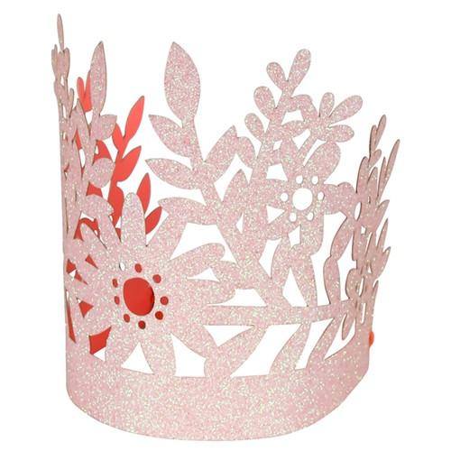Corona Purpurina Rosa (pack 8u.)
