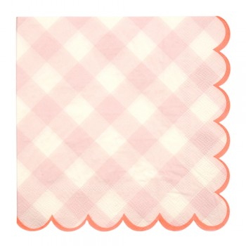 Pink Gingham Small Napkin (20u.)