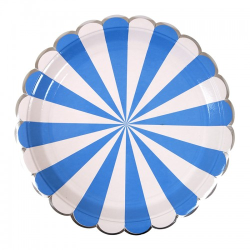 Blue Striped large Plate