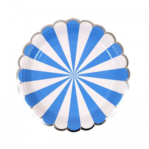 Blue Striped Small Plate (8u.)