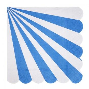 Servilletas Grandes Rayas Azules (20u.)