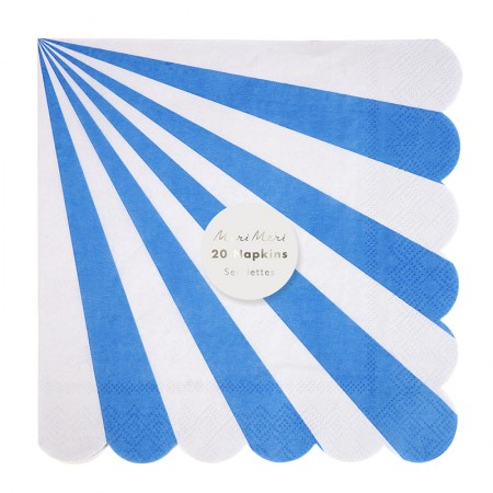 Blue Striped Large Napkin (20u.)