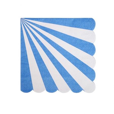Servilletas Pequeñas Rayas Azules (20u.)
