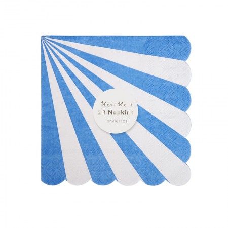 Blue Striped Small Napkin (20u.)