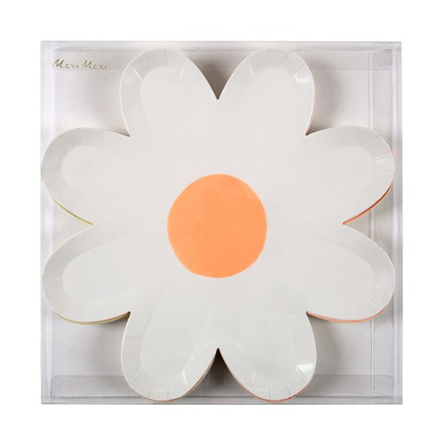 Colourful Daisy Plates (6u.)