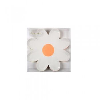 Colourful Daisy Canape Plates  (6u.)