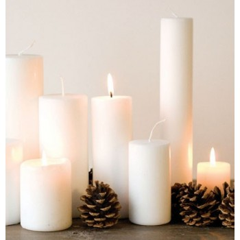 White 4 x 25 candle
