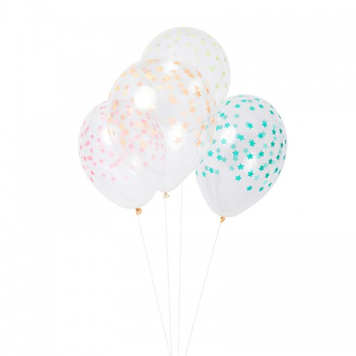 Mixed Star Ballons (8u.)