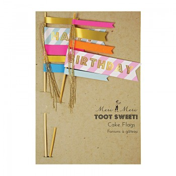 Toot Sweet Cake Flags (2u.)