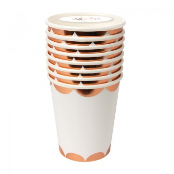Rose Gold Scalloped cup (8u.)