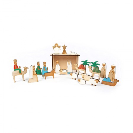 Wood Nativity  Calender