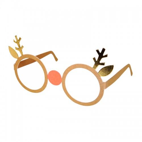 Reindeer Paper Glasses (12u.)