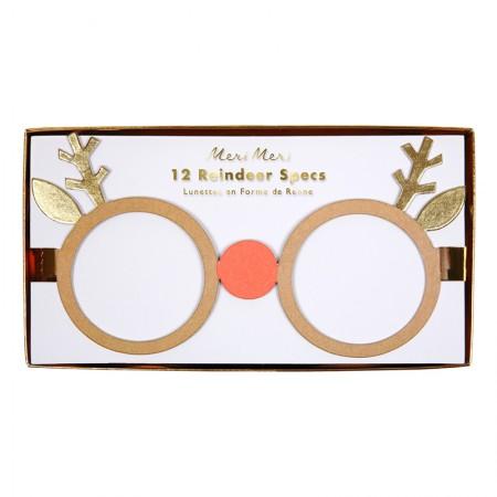 Gafas de Papel Reno (12u.)