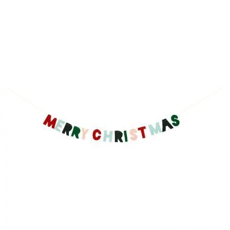 Felt Merry Christmas mini Garland