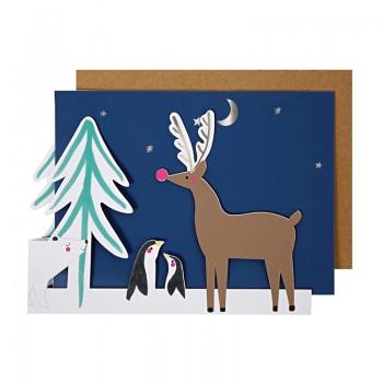 Polar Bear Concertina Greeting Card
