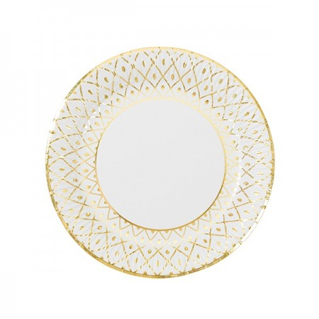 Gold Paper Plates (8u.)