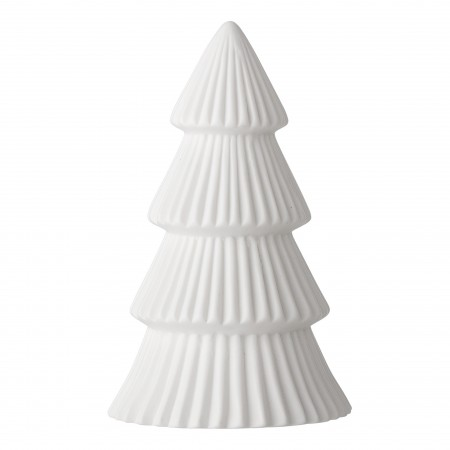 Tree w/Light 13cm. White. Porcelanic