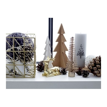 Tree w/Light 10cm. White. Porcelanic