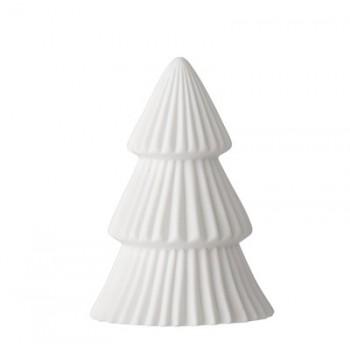Árbol de luz Navidad blanco 10cm