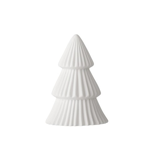 Tree w/Light 10cm. White. Porcelanic