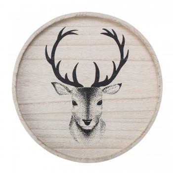 Bandeja de madera (D 35 cm)