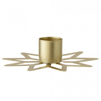 Candlestick, Gold, Metal