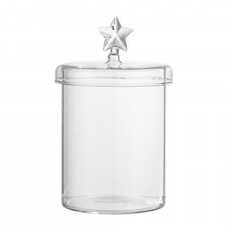 Jar w/Lid, Clear, Glass