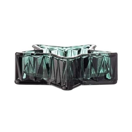 Portavelas estrella cristal