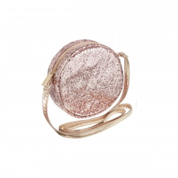 Round Glitter Cross Body Bag Pink